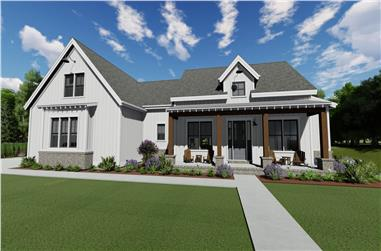 3-Bedroom, 2729 Sq Ft Farmhouse Home - Plan #194-1058 - Front Exterior