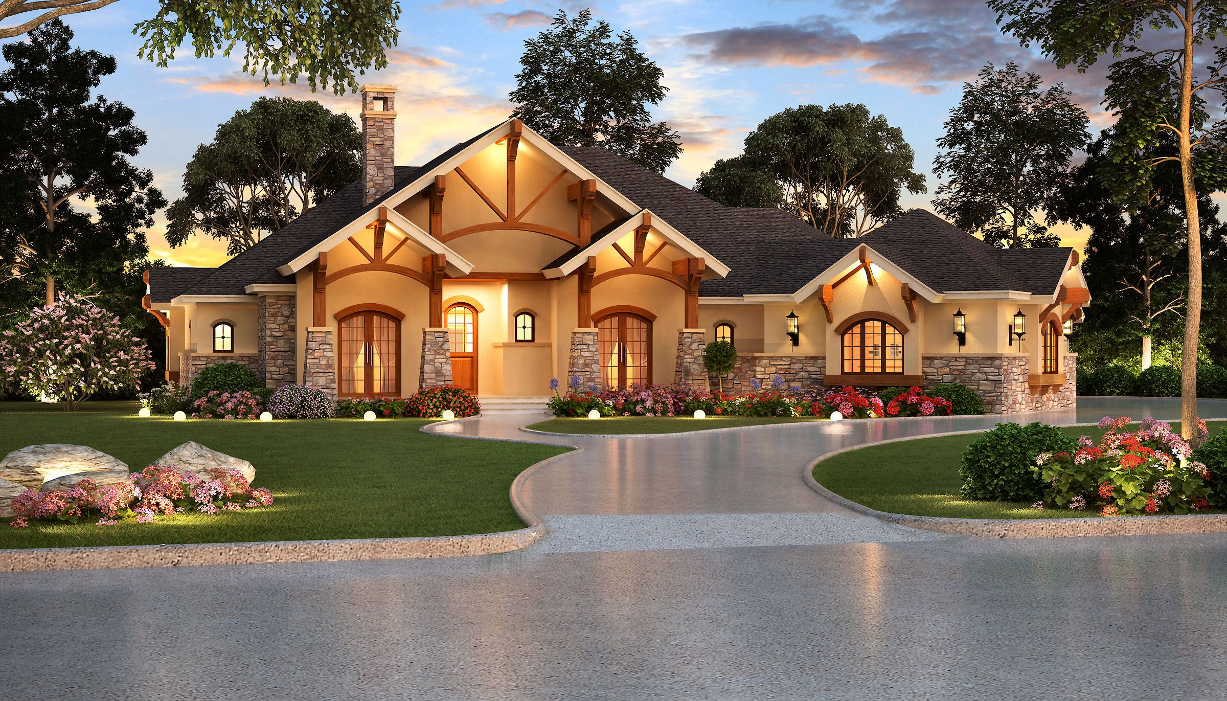 4 Bedrm 3584 Sq Ft Ranch House Plan 195 1000