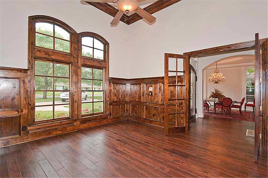 Home Office: Library of this 5-Bedroom,5327 Sq Ft Plan -5327