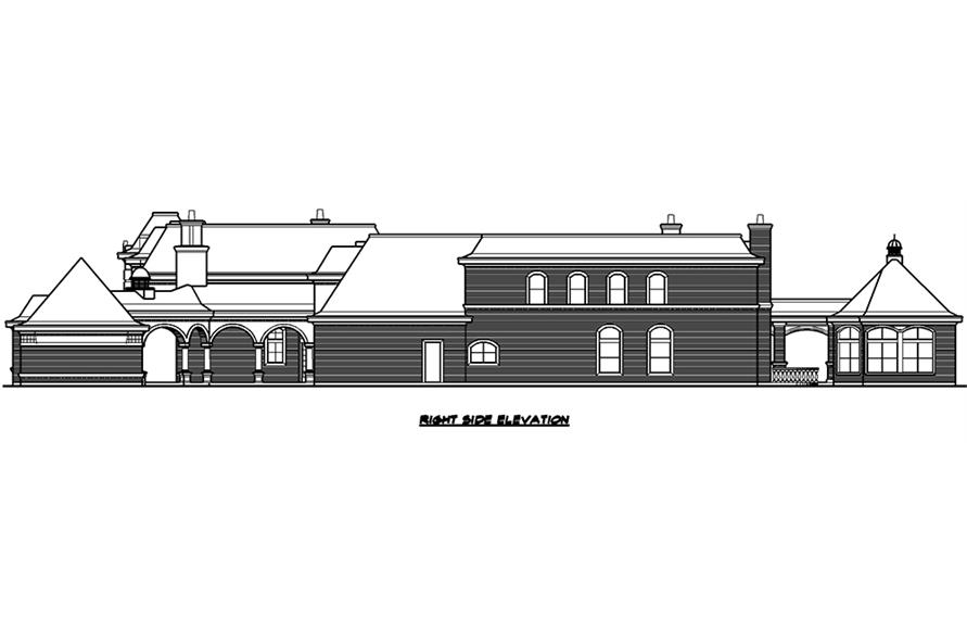 Home Plan Right Elevation of this 7-Bedroom,15079 Sq Ft Plan -195-1012