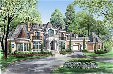 7-Bedroom, 15079 Sq Ft Tudor Home Plan - 195-1012 - Main Exterior