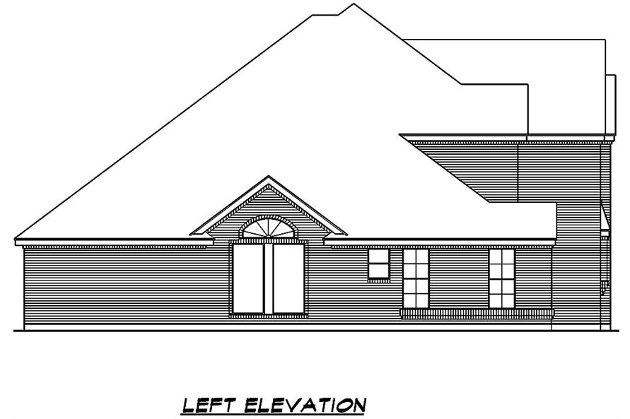 195-1014: Home Plan Left Elevation
