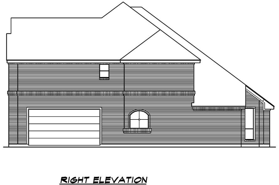 195-1014: Home Plan Right Elevation