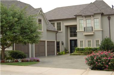 Color photo of Luxury home plan (House Plan #195-1015) at The Plan Collection.