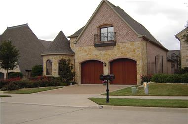 3-Bedroom, 3666 Sq Ft Luxury Home Plan - 195-1017 - Main Exterior