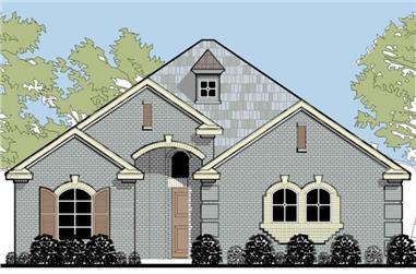 3-Bedroom, 2208 Sq Ft Tudor Home Plan - 195-1018 - Main Exterior
