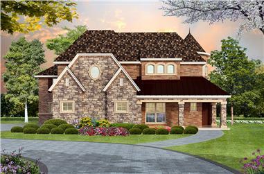 4-Bedroom, 4936 Sq Ft Tudor Home Plan - 195-1019 - Main Exterior