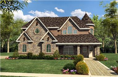 4-Bedroom, 4936 Sq Ft Luxury Home Plan - 195-1020 - Main Exterior
