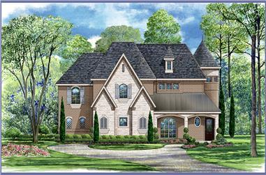 4-Bedroom, 5101 Sq Ft Tudor Home Plan - 195-1021 - Main Exterior