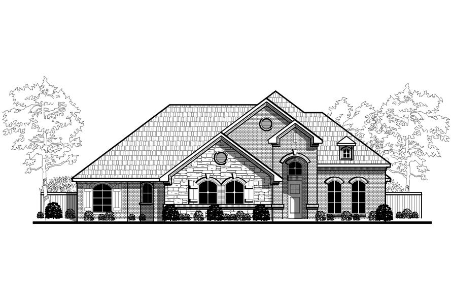 Home Plan Rendering of this 4-Bedroom,2929 Sq Ft Plan -2929