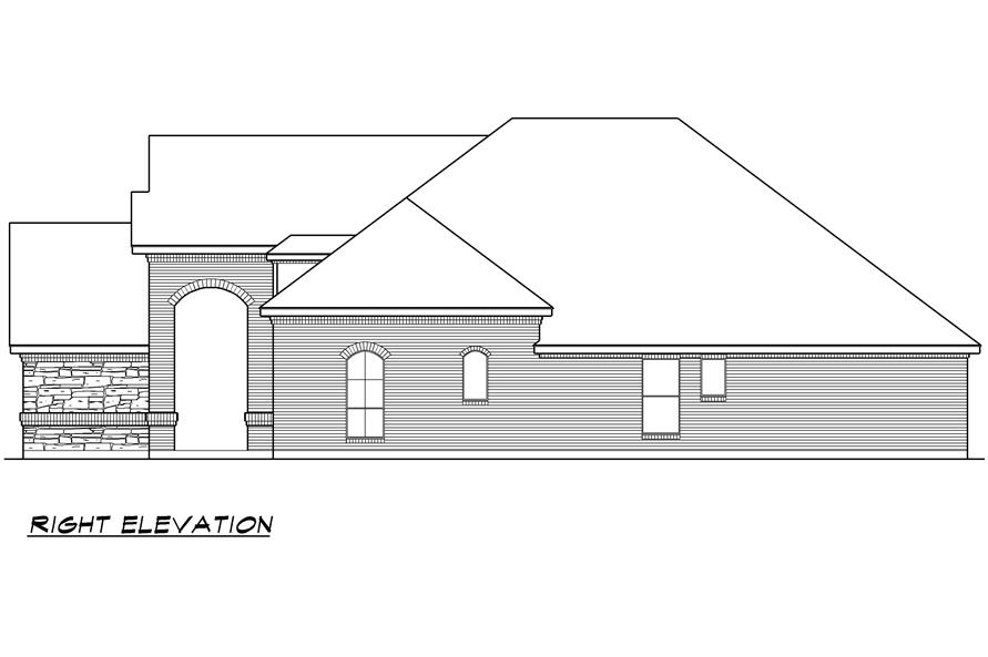 Home Plan Right Elevation of this 4-Bedroom,2929 Sq Ft Plan -195-1023