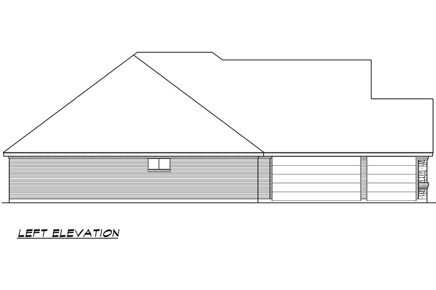 Home Plan Left Elevation of this 4-Bedroom,2929 Sq Ft Plan -195-1023