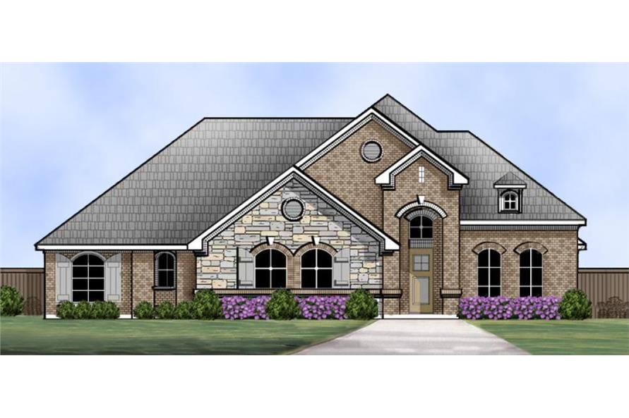 4-Bedroom, 2929 Sq Ft Traditional House Plan - 195-1023 - Front Exterior