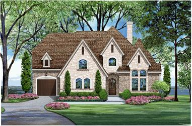 4-Bedroom, 4268 Sq Ft Luxury House Plan - 195-1024 - Front Exterior