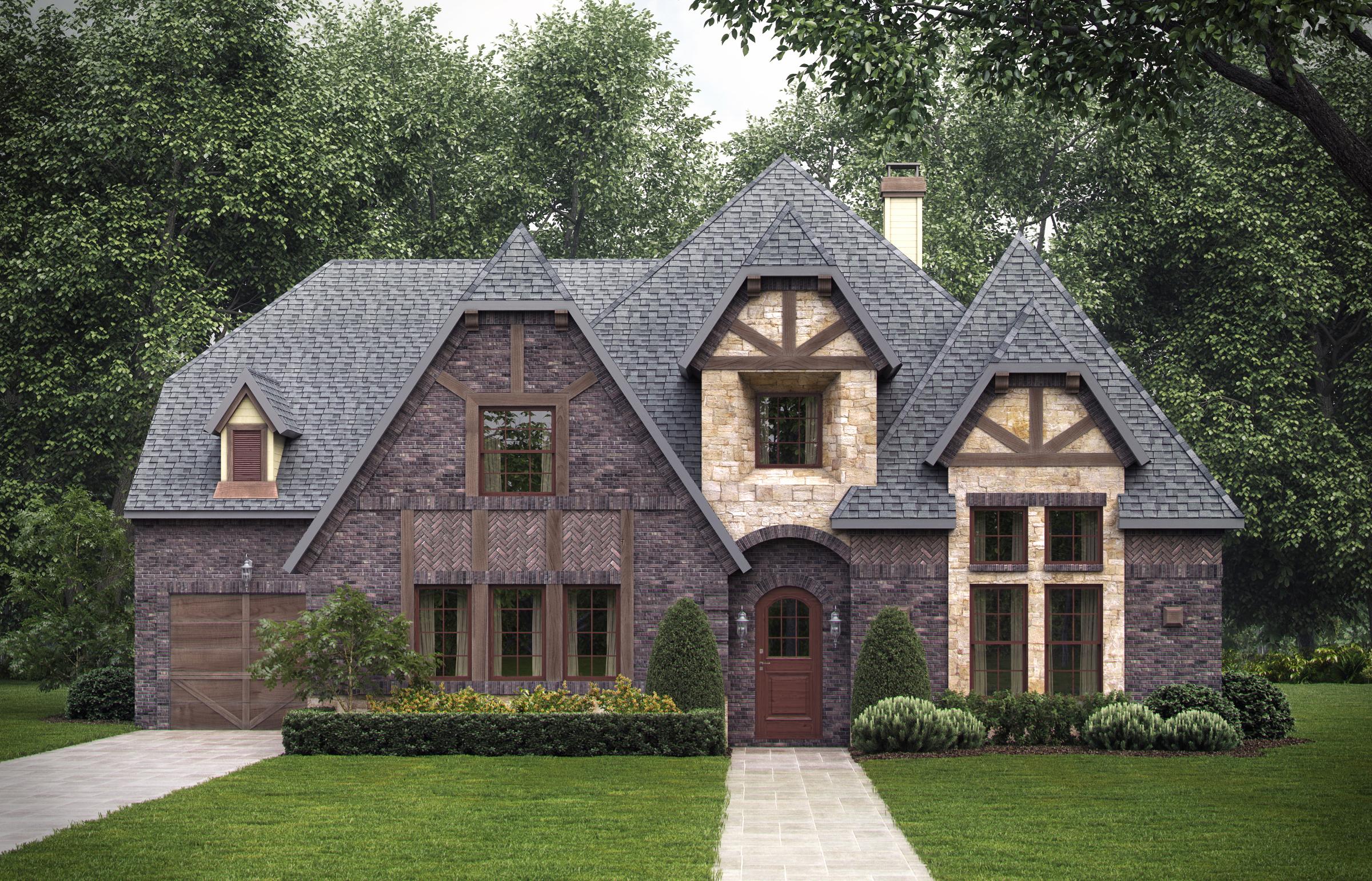 4 Bedrm 4268 Sq Ft Tudor House Plan 195 1025