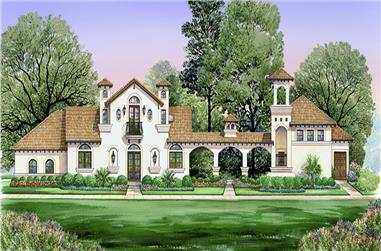 4-Bedroom, 2845 Sq Ft Tudor Home Plan - 195-1030 - Main Exterior