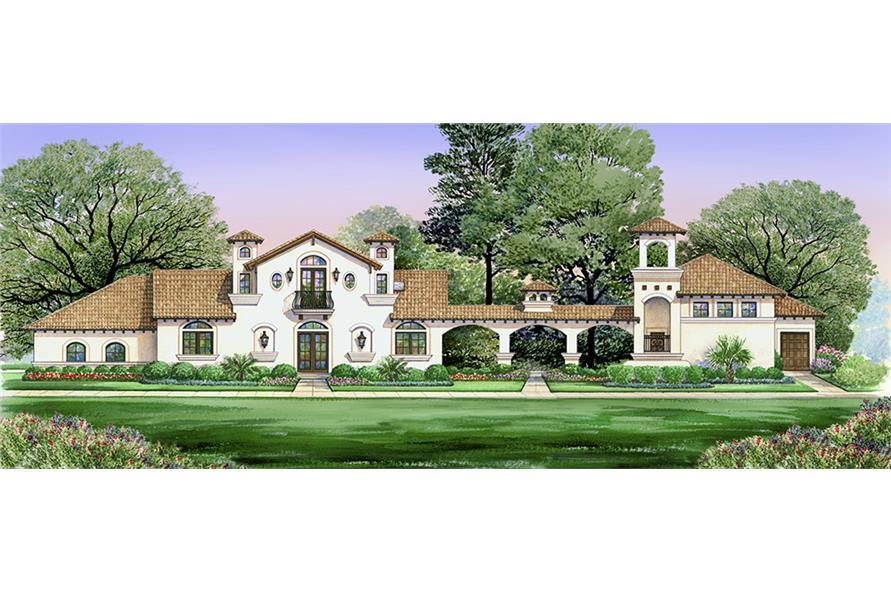 4-Bedroom, 2845 Sq Ft Tudor Home Plan - 195-1030 - Main Exterior