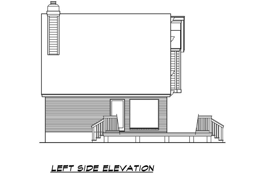 Home Plan Left Elevation of this 3-Bedroom,1526 Sq Ft Plan -195-1031