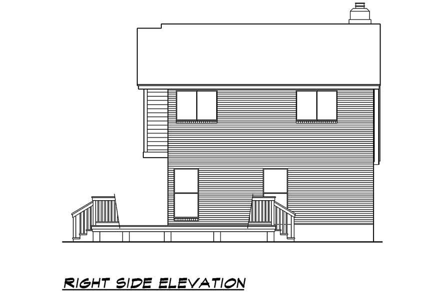 Home Plan Right Elevation of this 3-Bedroom,1526 Sq Ft Plan -195-1031