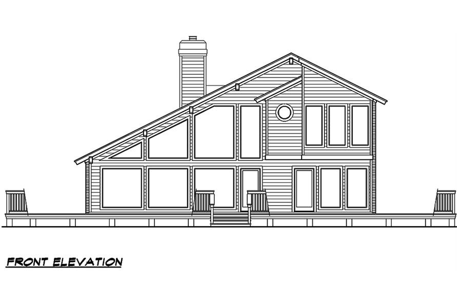 Home Plan Front Elevation of this 3-Bedroom,1526 Sq Ft Plan -195-1031