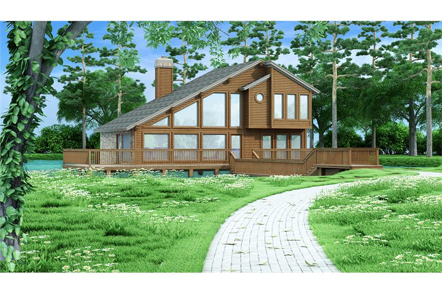 3-Bedroom, 1526 Sq Ft Vacation Homes Home Plan - 195-1031 - Main Exterior