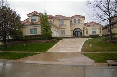 3-Bedroom, 3685 Sq Ft Mediterranean House Plan - 195-1042 - Front Exterior