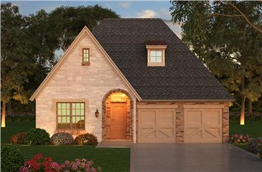 3-Bedroom, 2640 Sq Ft Tudor House Plan - 195-1043 - Front Exterior
