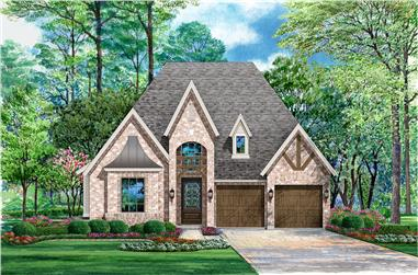 3-Bedroom, 2640 Sq Ft Tudor House Plan - 195-1044 - Front Exterior