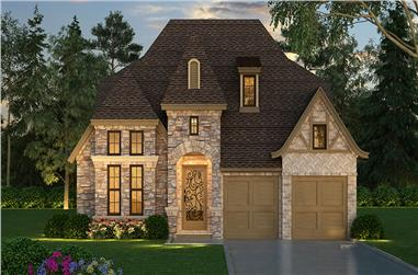 3-Bedroom, 2640 Sq Ft Tudor House Plan - 195-1045 - Front Exterior
