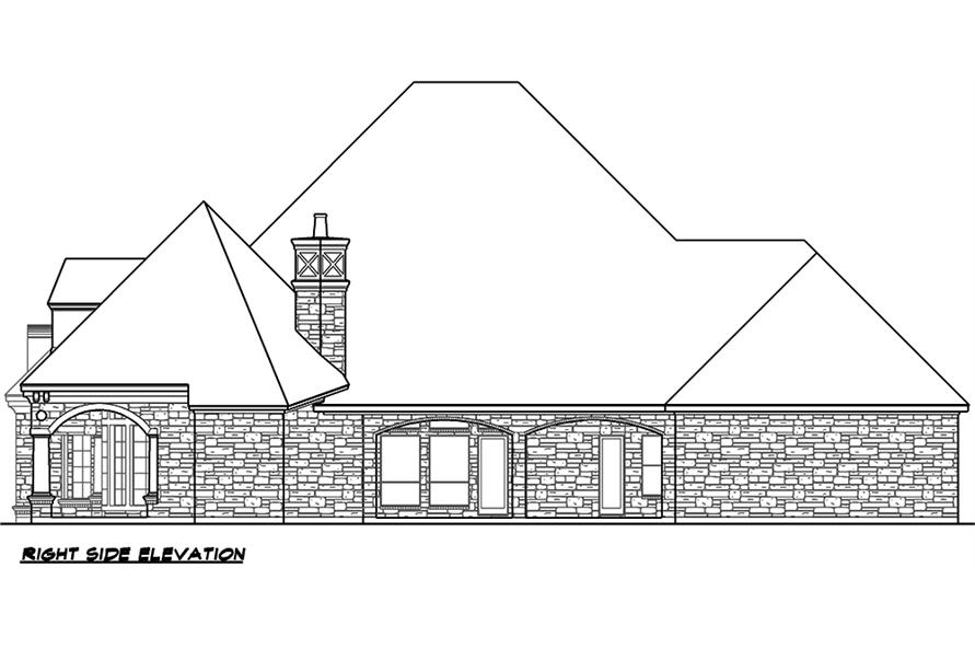 Home Plan Right Elevation of this 4-Bedroom,4977 Sq Ft Plan -195-1046