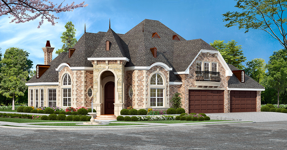 3 bedrm 3043 sq ft georgian house plan 195 1049 for Large custom home plans