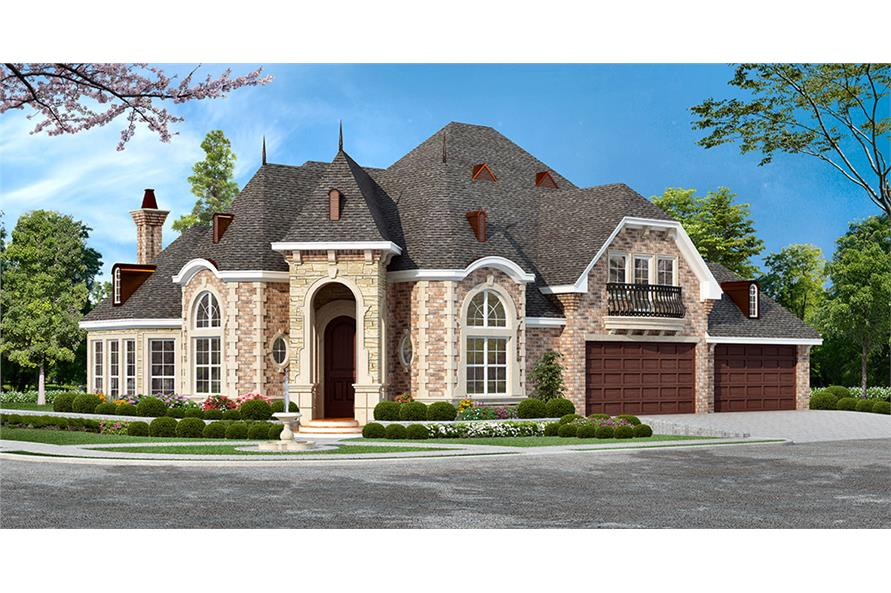 3-Bedroom, 3043 Sq Ft Georgian House Plan - 195-1049 - Front Exterior