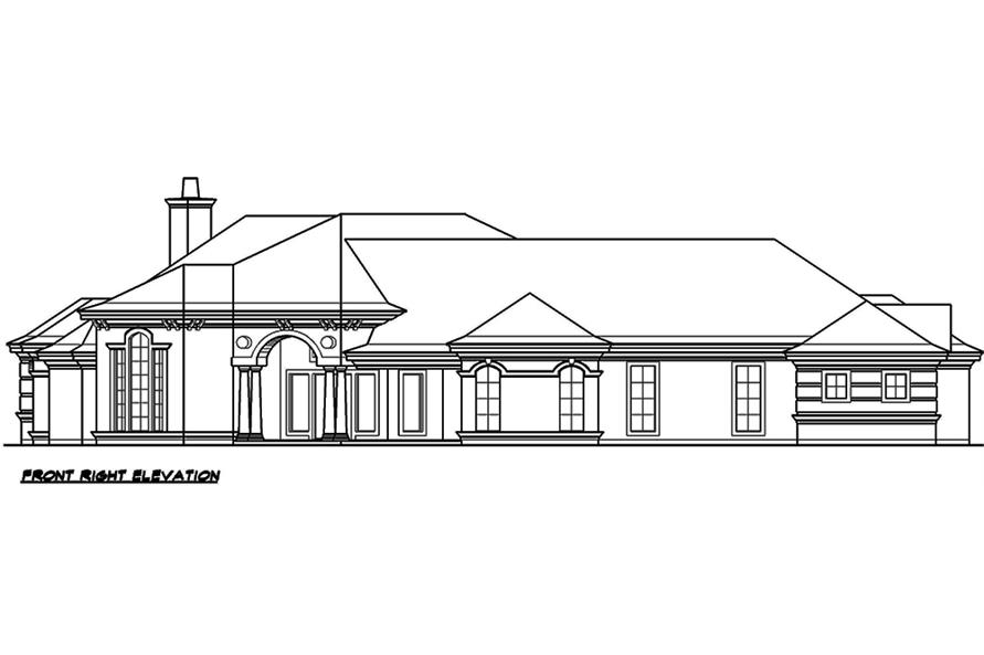 Home Plan Front Elevation of this 3-Bedroom,5108 Sq Ft Plan -195-1051