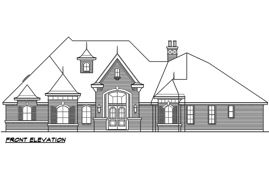 Home Plan Front Elevation of this 3-Bedroom,3267 Sq Ft Plan -195-1053