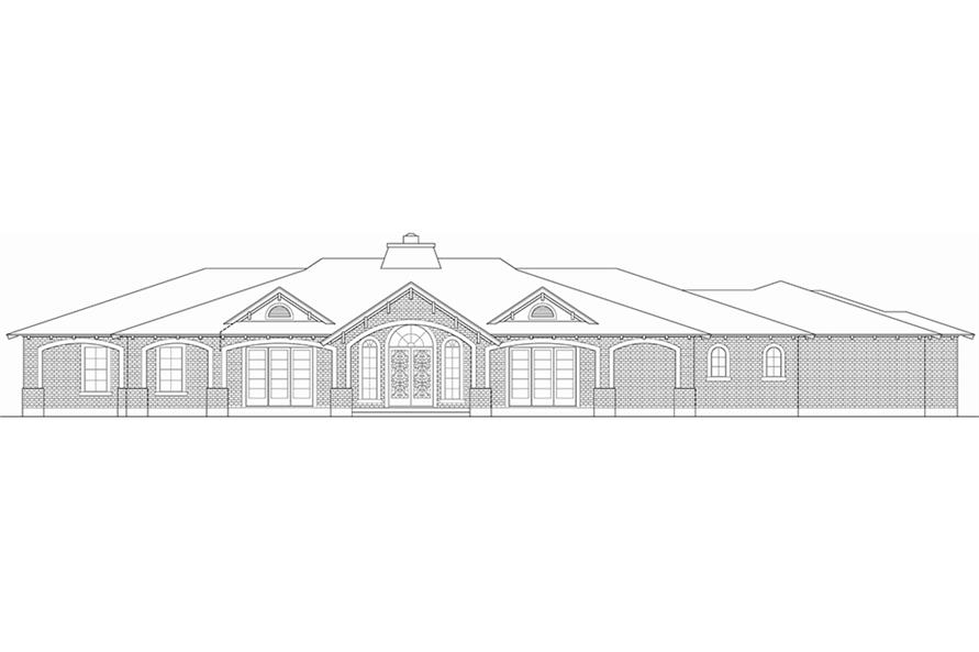 Home Plan Front Elevation of this 3-Bedroom,5599 Sq Ft Plan -195-1055