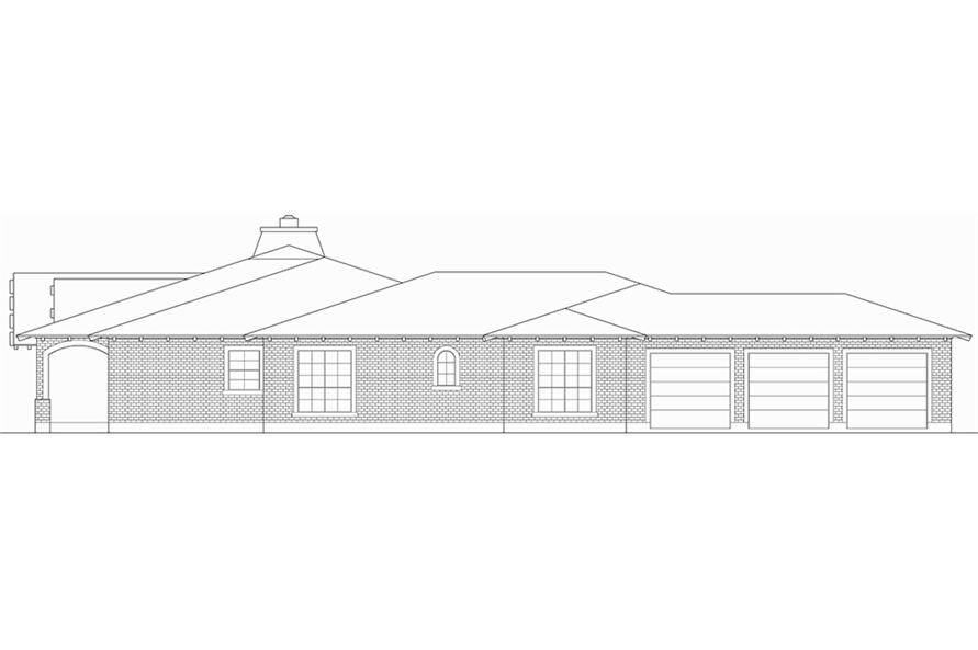 Home Plan Right Elevation of this 3-Bedroom,5599 Sq Ft Plan -195-1055