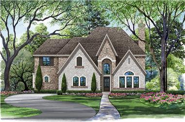4-Bedroom, 4897 Sq Ft Tudor House Plan - 195-1058 - Front Exterior