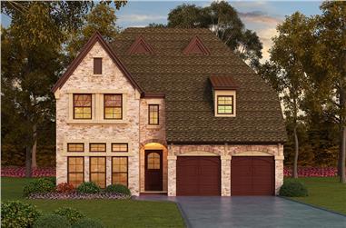 3-Bedroom, 3407 Sq Ft Tudor Home Plan - 195-1059 - Main Exterior