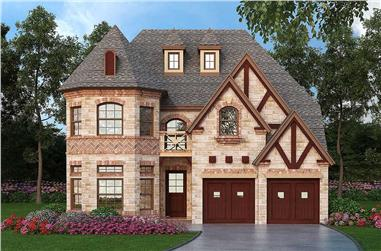 3-Bedroom, 3407 Sq Ft Tudor Home Plan - 195-1060 - Main Exterior