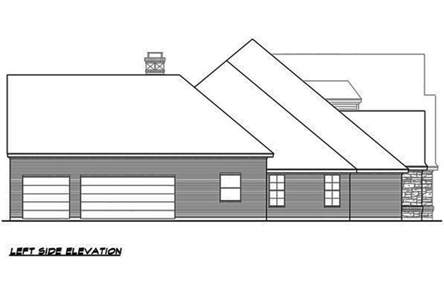 Home Plan Left Elevation of this 4-Bedroom,4265 Sq Ft Plan -195-1063