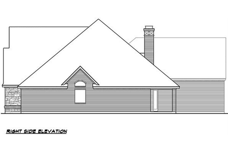 Home Plan Right Elevation of this 4-Bedroom,4265 Sq Ft Plan -195-1063