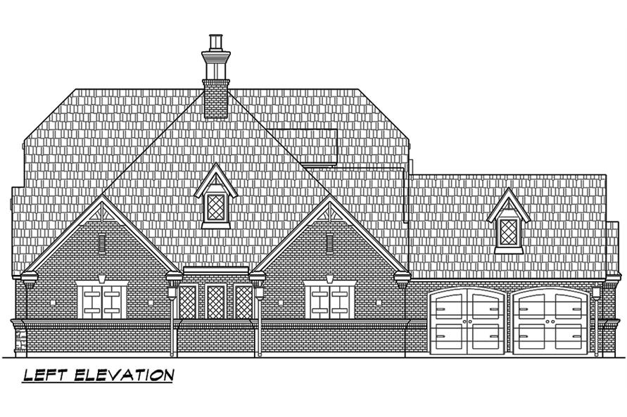 Home Plan Left Elevation of this 3-Bedroom,3047 Sq Ft Plan -195-1067