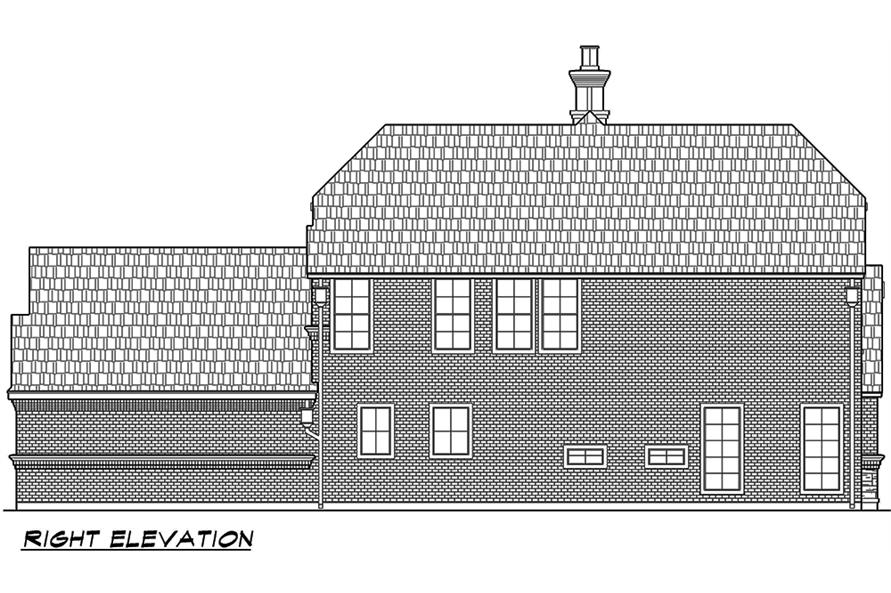 Home Plan Right Elevation of this 3-Bedroom,3047 Sq Ft Plan -195-1067