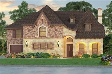 5-Bedroom, 5297 Sq Ft European Home Plan - 195-1069 - Main Exterior