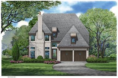 3-Bedroom, 3818 Sq Ft European Home Plan - 195-1074 - Main Exterior
