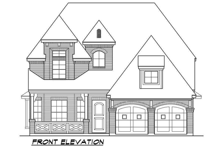 195-1075: Home Plan Front Elevation