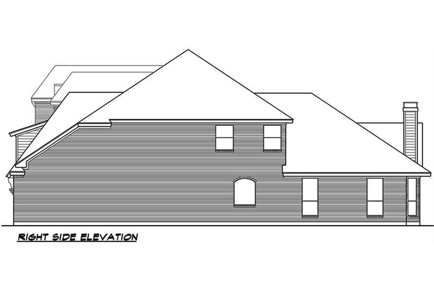 Home Plan Right Elevation of this 3-Bedroom,3818 Sq Ft Plan -195-1075