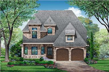 3-Bedroom, 3818 Sq Ft European Style Home - Plan #195-1075 - Main Exterior
