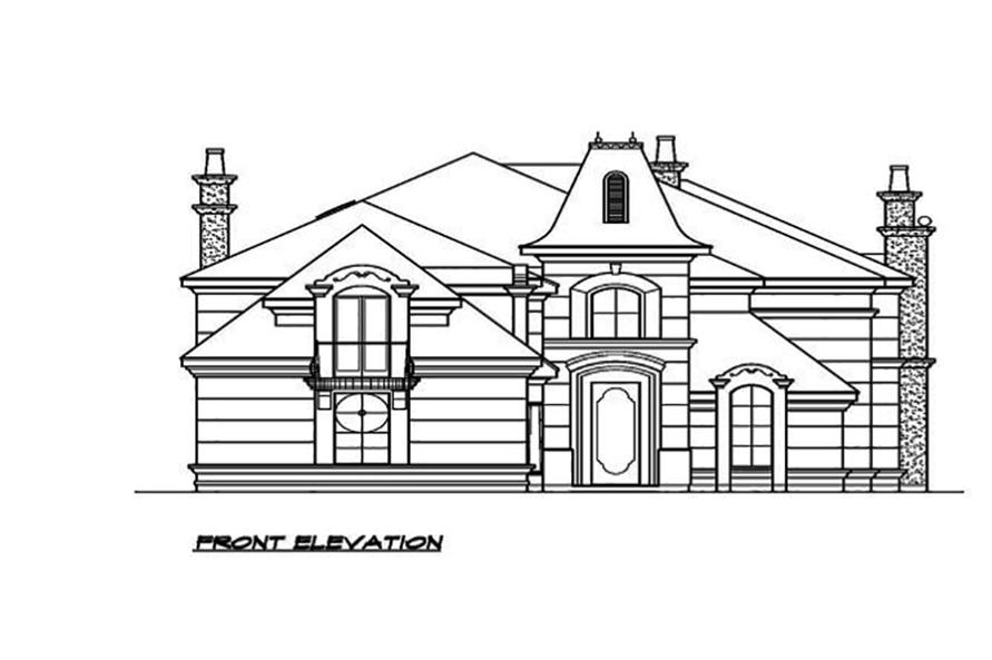 195-1089: Home Plan Front Elevation