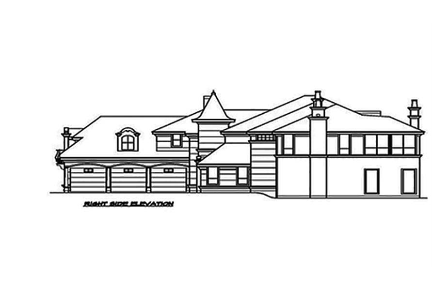 Home Plan Right Elevation of this 3-Bedroom,5343 Sq Ft Plan -195-1089
